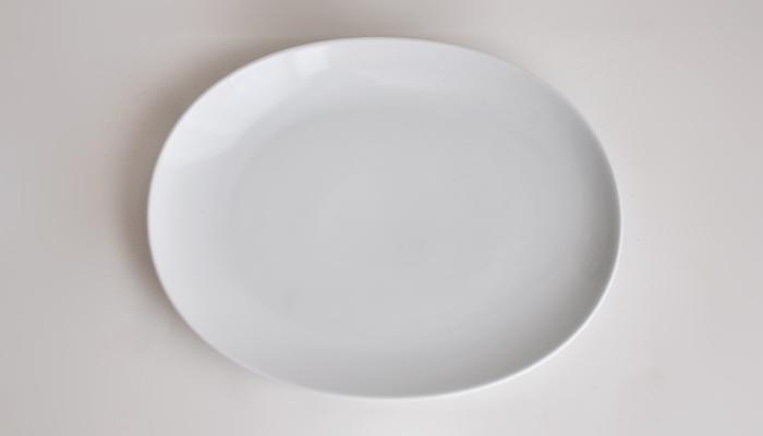 Common コモン オーバルプレート ホワイト