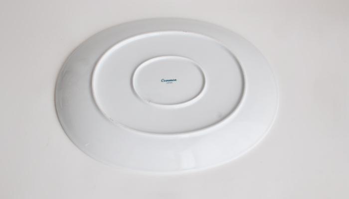 Common コモン オーバルプレート ホワイト02