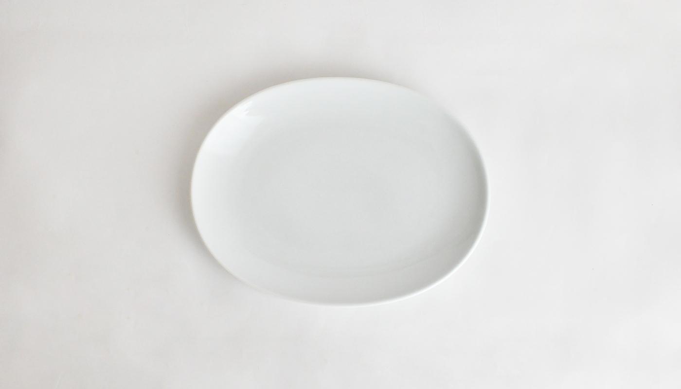 Common コモン オーバルプレート19cm ホワイト01