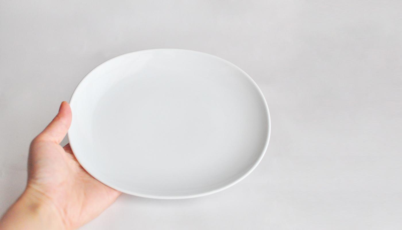 Common コモン オーバルプレート19cm ホワイト03