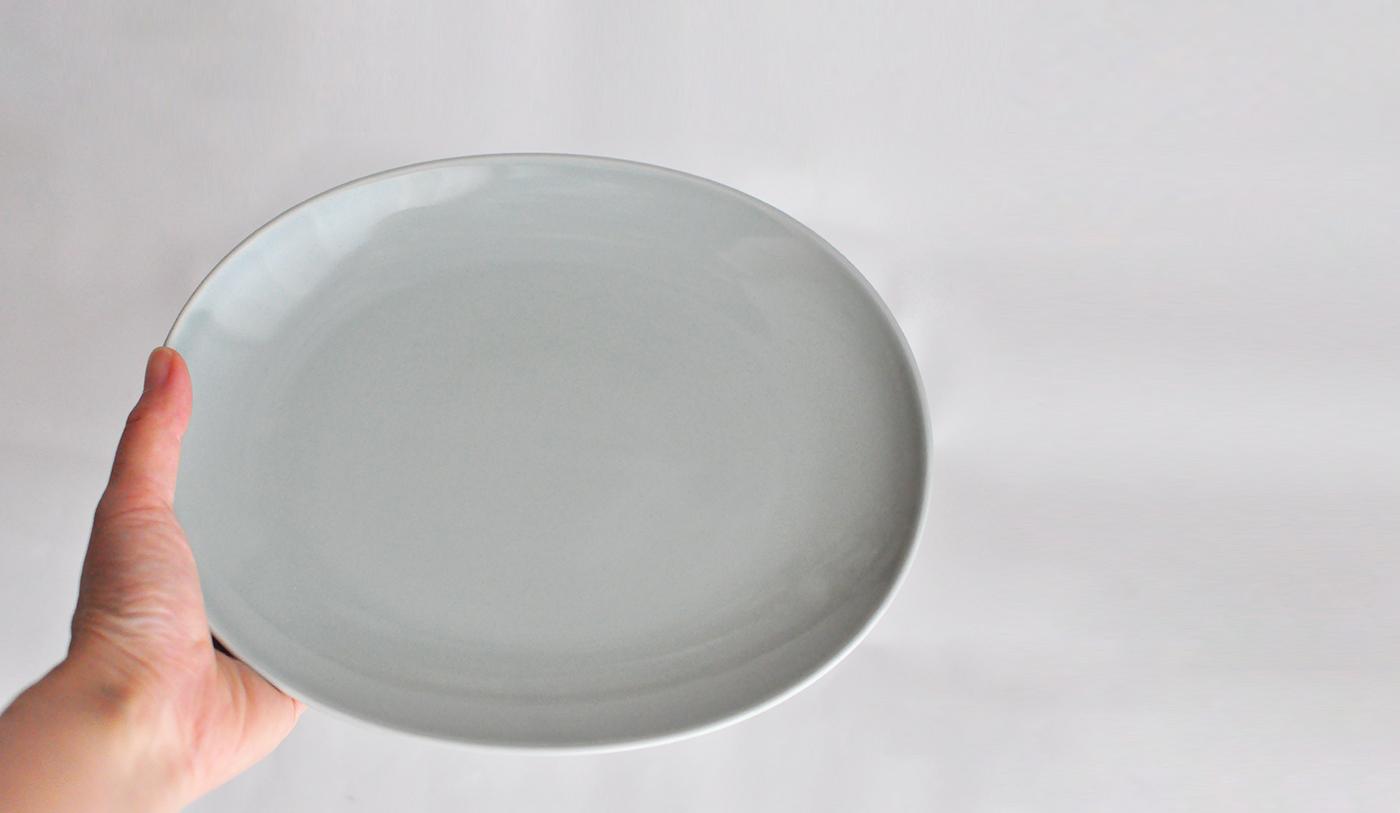 Common コモン オーバルプレート22cm グレー03