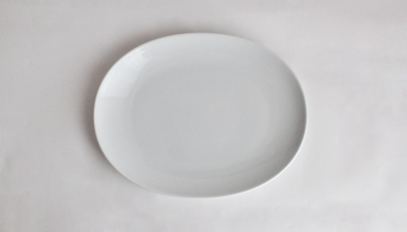 Common コモン オーバルプレート22cm ホワイト01