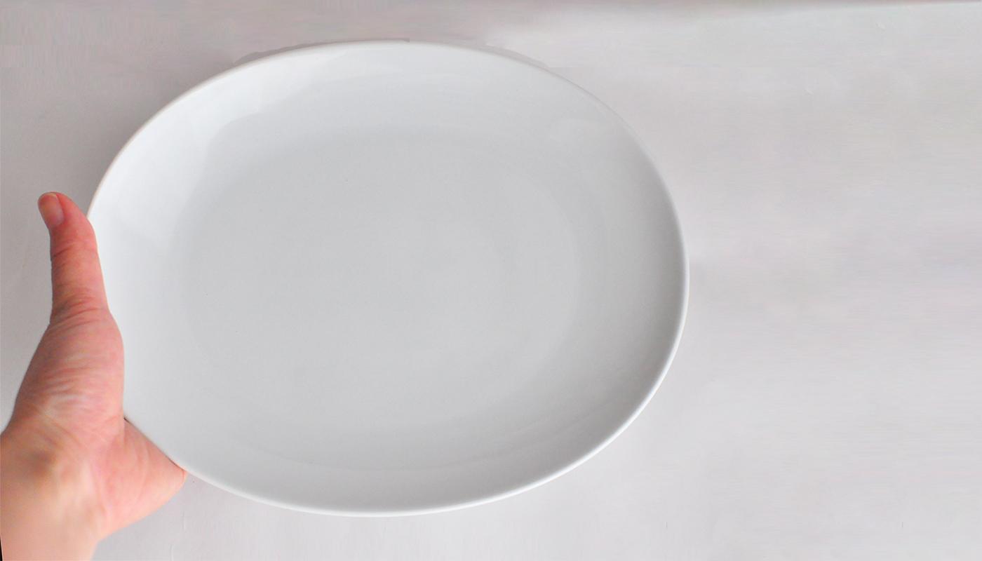 Common コモン オーバルプレート22cm ホワイト03