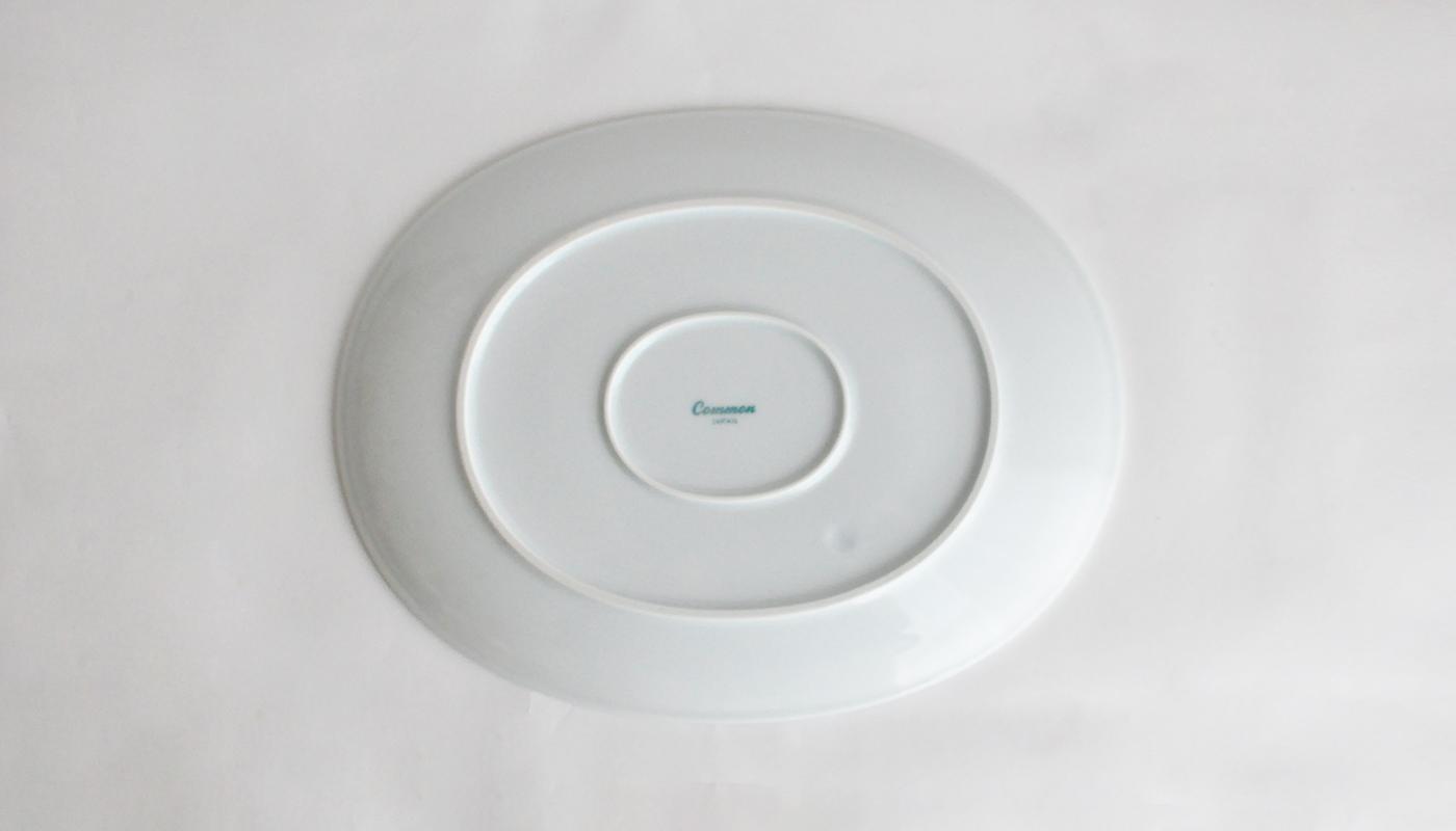Common コモン オーバルプレート22cm ホワイト04