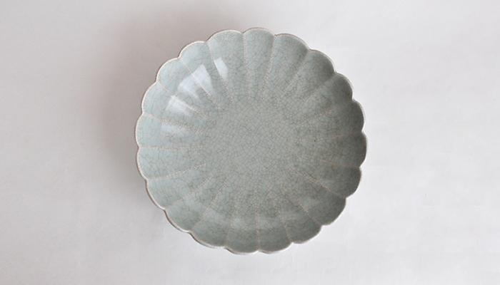 青瓷輪花鉢 中  | 石黒 剛一郎