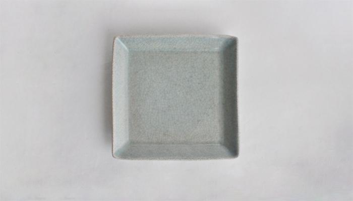 青瓷正角皿 | 石黒 剛一郎