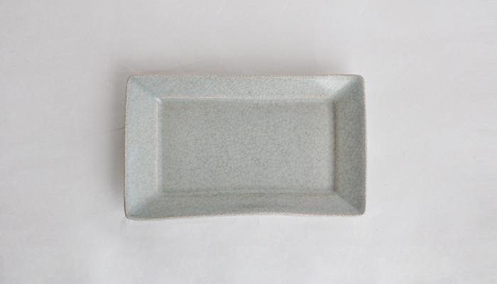 青瓷長角皿 | 石黒 剛一郎