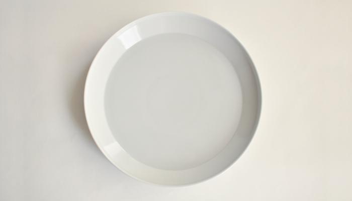 プレート 24cm ホワイト | RIM by KINTO