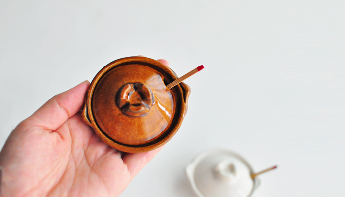 伊賀焼窯元 長谷園の土鍋 シロ 薬味入れ