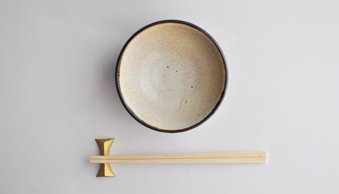 中村恵子の飯碗 黒×皹粉引 04