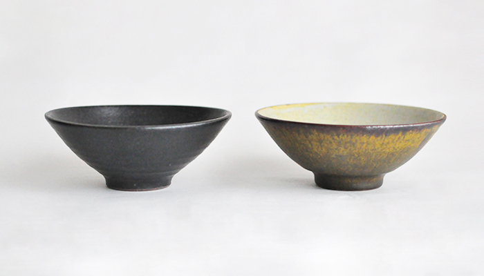 中村恵子の飯碗 大 深緑 03