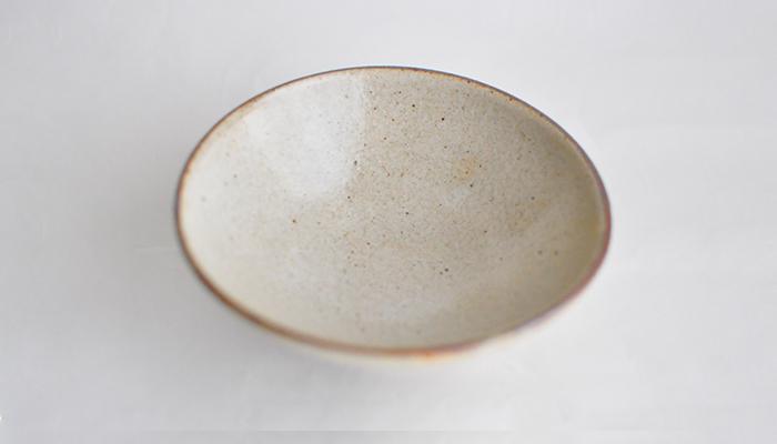 中村恵子の飯碗 大 皹粉引 03