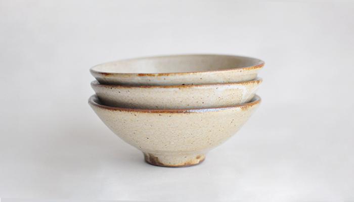 中村恵子の飯碗 大 皹粉引 10