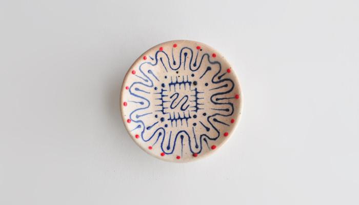 豆皿 9cm 青 (NZ) 南島焼