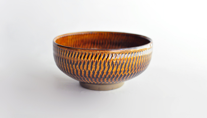 5寸鉢(15cm)黒木富雄窯