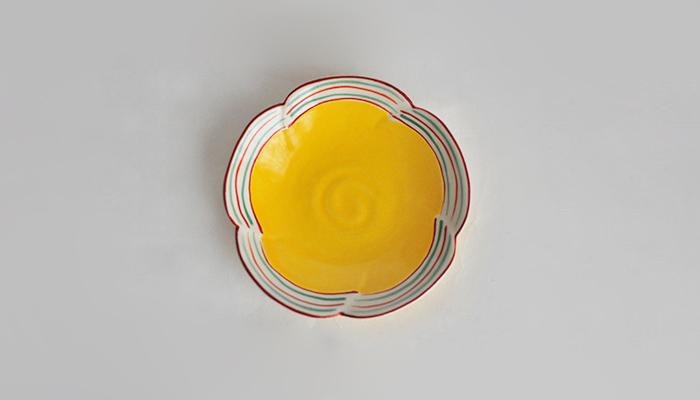 豆皿 11cm 黄色