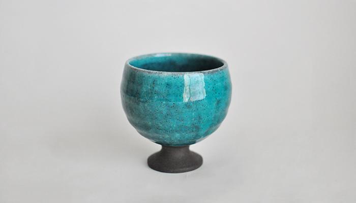 ワインカップ 小 青|瀬戸焼