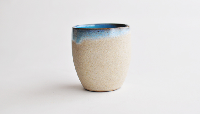 フリーカップ コーラルブルー やまばれ陶房