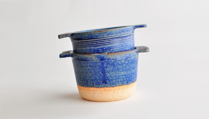 ココット 瑠璃青 やまばれ陶房2pcsセット