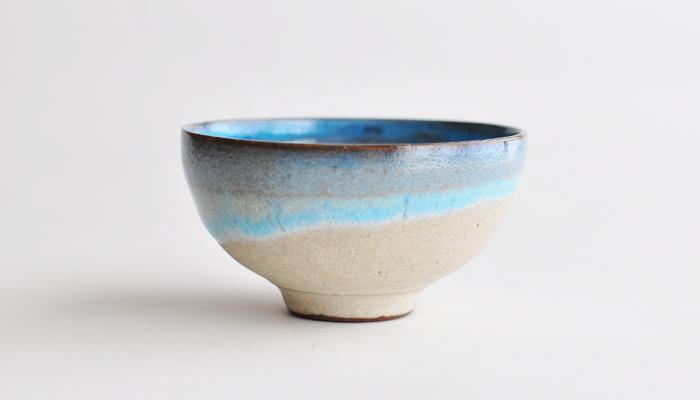 小鉢 コーラルブルー やまばれ陶房