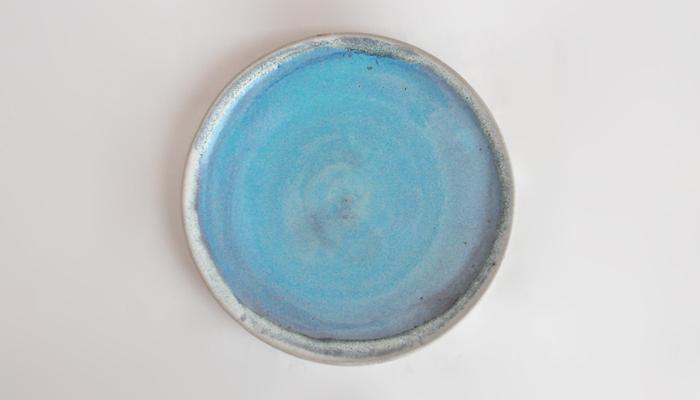 皿 20cm コーラルブルー やまばれ陶房